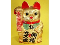 皺金招財貓 Golden lucky cat