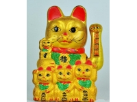 皺金五福貓 Electric Lucky Cat