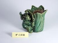 """4"""" 白菜象 Bamboo Pot"""