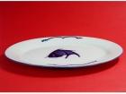 "10""魚盤(藍魚) Oval Plate"