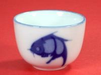 """3"""" 厚工中杯(藍魚) Tea Cup"""