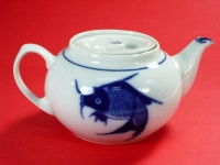 2號柿壺(藍魚) Tea Pot Oval