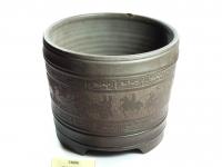 紫古车马圆盆 Clay Pot