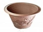 红大平口刻龙 Clay Pot