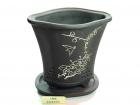 紫海棠盆带托 Clay Pot