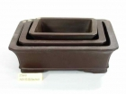 A007 長方盆 (3pc) Bonsai Clay Pot