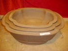 S001 長方盆 (3pc) Bonsai Clay Pot