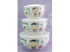 一家四口(男孩)密封碗 Ceramic Lunch Box