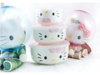 Kitty猫(粉)保鲜盖碗 Ceramic Lunch Box