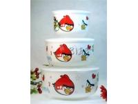 愤怒的小鸟保鲜盖碗 Ceramic Lunch Box
