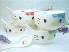 Kitty猫4碗4勺 Bowl+Spoon Set