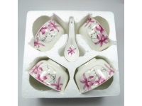 玫瑰情深4碗4勺 Bowl+Spoon Set