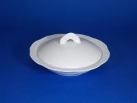 """7"""" 牛油碟(強化瓷) Flat Bowl W/ Cover"""