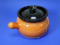 扁粥煲(全釉扎鐵線) Earthen Pot