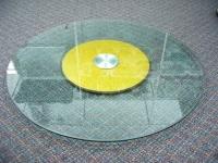連體10厘金沙底玻璃盤 Glass tray