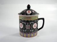中山筒(粉彩) Mug W/Lid