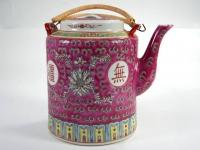 50件桶型壺(粉彩) Tea Pot Handles