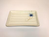 "9.5""x6"" 长方横纹盘(赤流)  Rectangular Plate"