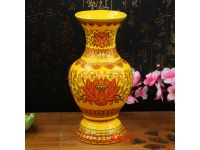 唐彩富贵花瓶 Vase