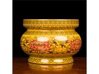 (黄)唐彩香炉 Vase