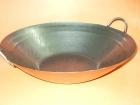 "15""平底機制鍋 Machine made steel wok"