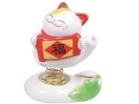 福字風水貓彈簧 Lucky Cat