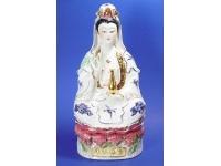 扶瓶觀音(藍彩加金) Buddha(guanyin)