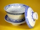 三件茶閉(米通) Tea Cup W/Lid