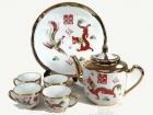 金龍鳳六頭大茶具 Tea set(gold)