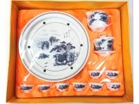 """10"""" 山容水色(鼓形茶具) Tea Set"""