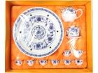 """10"""" 藍金蘭圖(鼓形茶具) Tea Set"""