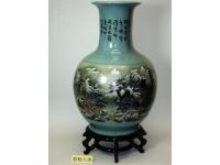 裂紋釉天球(精彩) Vase