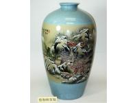 """24"""" 裂釉柳葉瓶(精彩) Vase"""