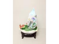"""24"""" 莲盆飘香(金鱼)(陶瓷假山) Ceramic Fountain"""