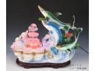 "26"" 珍珠海豚 Ceramic fountain"