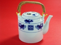 橋梁壺(新藍魚) Tea Pot Handled