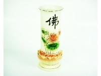 "8""  牙瓷雙層佛瓶 Lotus Vase"